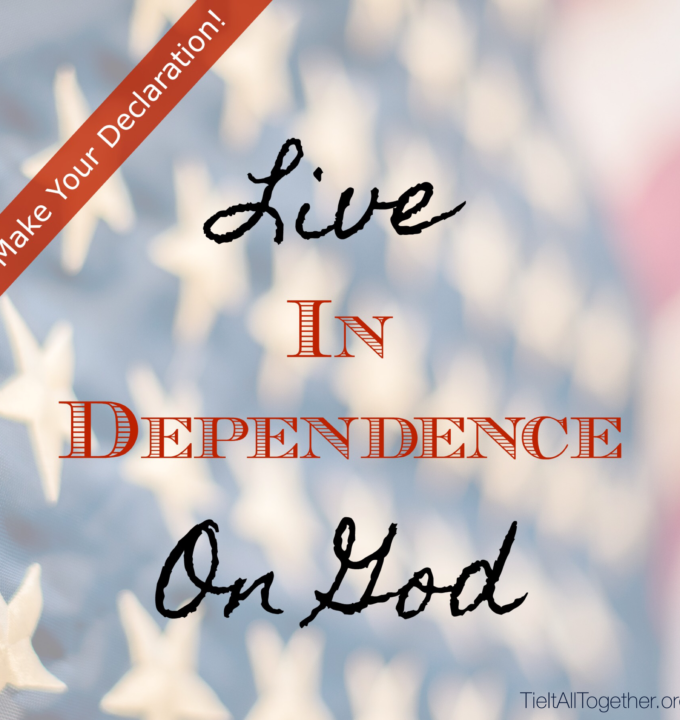 Live In Dependence On God